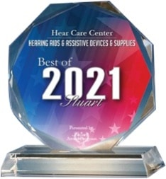 Trophy for the 2021 Best of Stuart Awards in the category of Hearing Aids & Assistive Devices & Supplies
